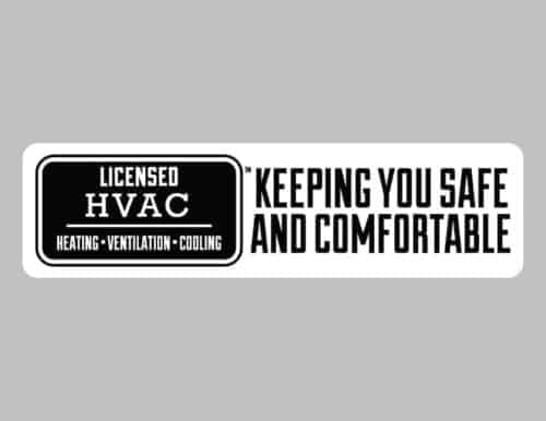 LICENSED HVAC BUMPER STICKER